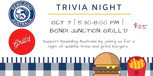 Rewilding Australia - Grill'd Trivia Night