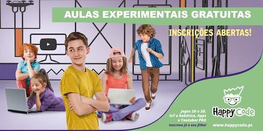Aula experimental gratuita de Programação de Jogos (6-12 anos) - Happy Code Oriente
