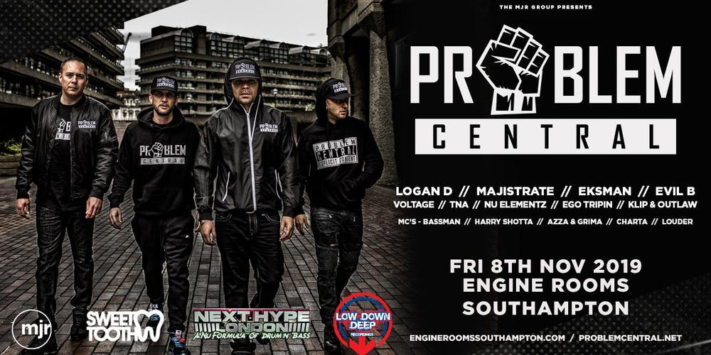 Problem Central (Engine Rooms, Southampton) Tickets, Fri 8