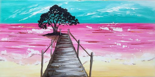 THINGS TO DO -PAINT & SIP: PINK SEA BEACH