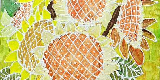 THINGS TO DO -PAINT & SIP: 3D Painting-Sunflowers