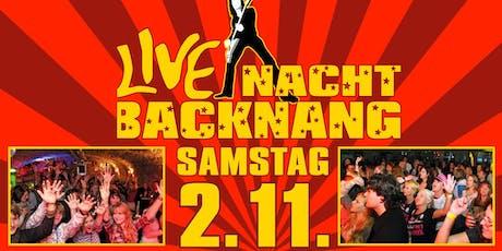 Live-Nacht Backnang Tickets