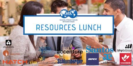 SPE Resource Lunch tickets