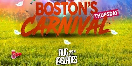 Boston Carnival Thursday  at  Slade's Bar & Grill  Performing live DEV. tickets