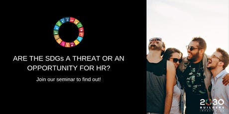 Are the SDGs a threat or an opportunity for HR? tickets