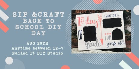 Sip & Craft Back to School DIY Project tickets