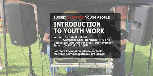 INTRODUCTION TO YOUTH WORK LEVEL 1 – TWO DAY COURSE