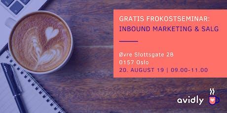 Gratis frokostseminar: Inbound marketing og salg tickets