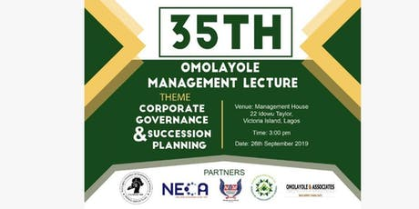 35th OMOLAYOLE MANAGEMENT LECTURE tickets