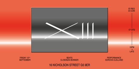 XIII: 16 Nicholson Street Fun(d)raiser tickets