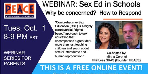 Sex Ed in Schools:  Why Be Concerned? How to Respond