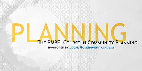 The PMPEI Course in Community Planning tickets