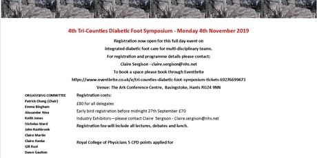 4th Tri Counties Diabetic Foot Symposium tickets