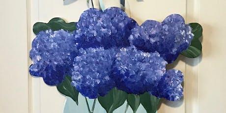 Blue Hydrangea Door Hanger tickets