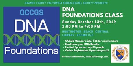 OCCGS DNA Foundations Class tickets