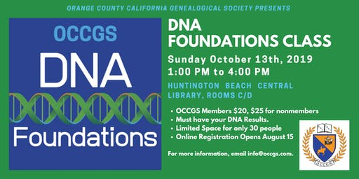 OCCGS DNA Foundations Class