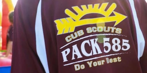 Pack 585 2019-2020 School Year Dues & T-Shirts