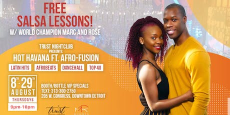 Hot Havana Ft. Afro-Fusion (FREE Salsa Lessons!) tickets