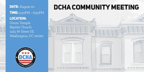 DCHA Community Meeting - East of the River tickets
