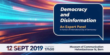 Democracy and Disinformation - An Expert Panel Discussion Tickets