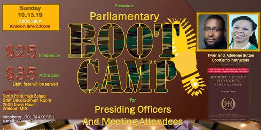 CCAU Parliamentary Boot Camp