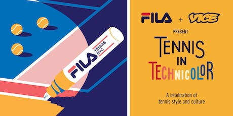 FILA & VICE Present: Tennis in Technicolor tickets