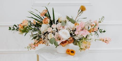 Drinks + Design - Seasonal Floral Arrangement Workshop