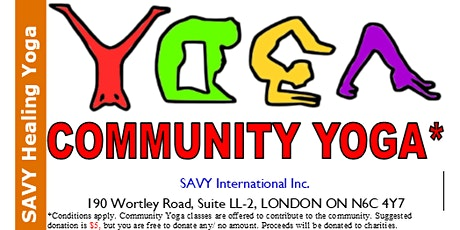 COMMUNITY YOGA CLASS tickets