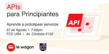 API & Programming | Free workshop | Le Wagon & FCE tickets