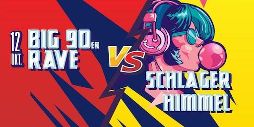 Big 90er Rave vs Schlager Himmel Berlin