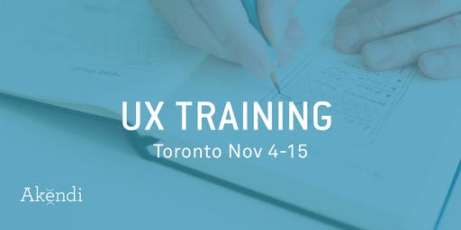 UX Professional Training & Certification, Toronto NOVEMBER 2019
