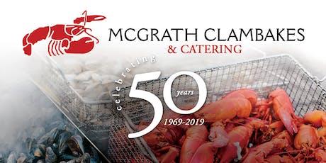 McGrath's 50th Anniversary tickets