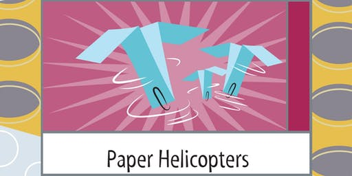 Paper Helicopters Science Saturday  @ 9 AM - Grades 3 and 4 only
