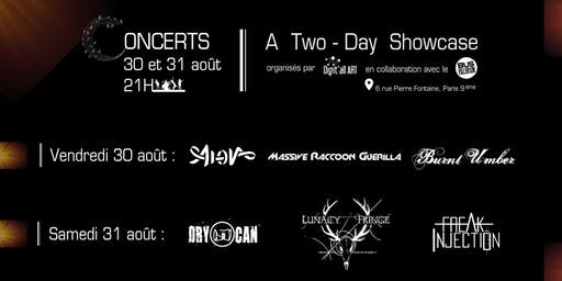 Concerts 30 et 31 août - A Two-Day Showcase at Bus Palladium