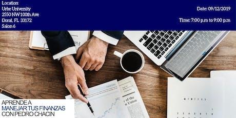 Aprende a planificar tus finanzas con Pedro Chacin entradas