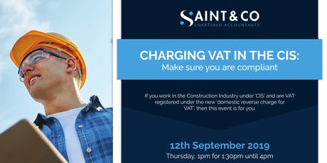 Reverse Charge for Construction Services tickets