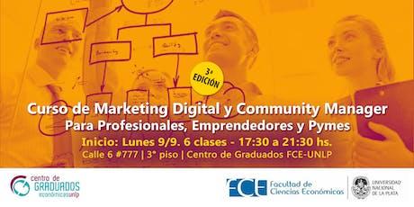 CURSO: Marketing Digital y Community Manager entradas