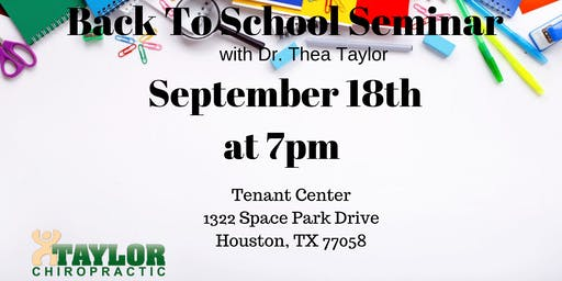 Back to School - ADD/ADHD & Anxiety - September 18th @ 7pm