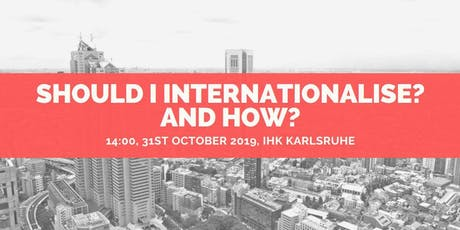 Should I internationalise? And How? tickets