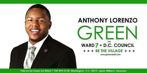 Green for Ward 7 Campaign Kickoff & Back-To-School