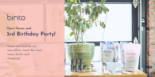 Binto's Open House & 3rd Birthday Party!
