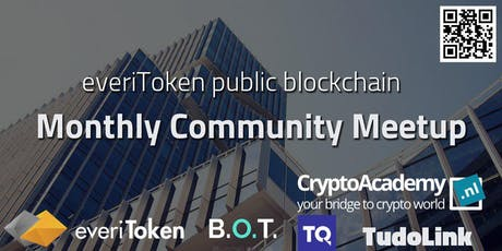 everiToken Public Blockchain | Monthly Community Meetup August tickets