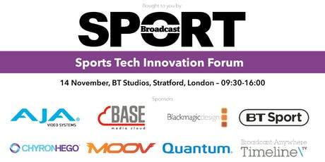 Sports Tech Innovation Forum 2019 tickets
