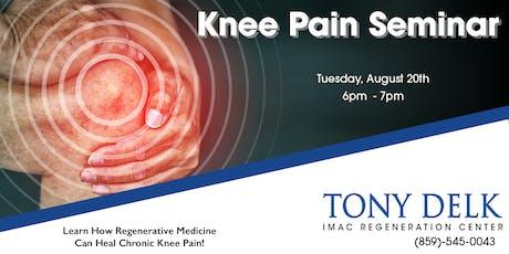 Tony Delk Center Knee Pain Seminar - 8/20 tickets