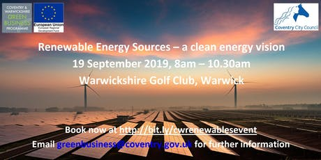 Renewable Energy Sources – a clean vision tickets