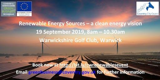 Renewable Energy Sources – a clean vision