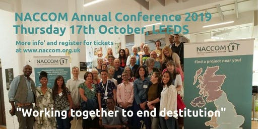 NACCOM Annual Conference 2019: Working Together to End Destitution