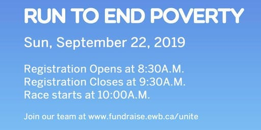 Run to End Poverty - EWB Western