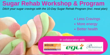 Sugar Rehab Workshop at Egli Bio Zurich - Saturday 21 September 2019 (2-4PM) tickets