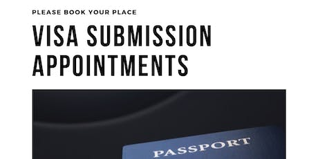 Visa Submission Appointments tickets
